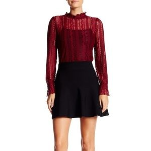 Romeo & Juliet Couture Black Flare Mini Skirt